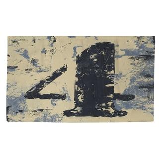 Vintage Numbers IV Rug (2' x 3')