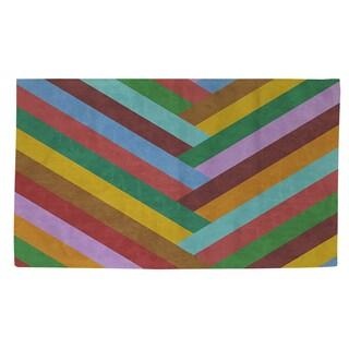 Thumbprintz Chevron Rainbow Rug (2' x 3')