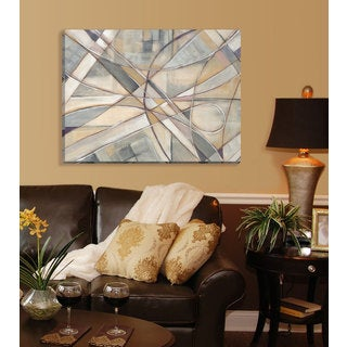 Portfolio Canvas Decor Large Printed 'Cross Country' Framed Gallery-wrapped Canvas Art
