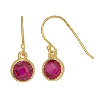 Gioelli Gold Plated Sterling Silver 6mm Checkerboard Gemstone Earrings