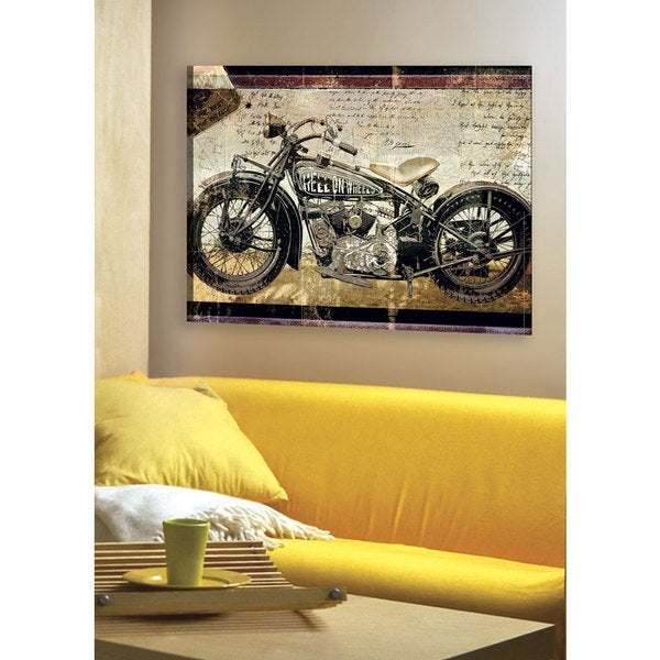 Portfolio Canvas Decor Large Printed \'Hell on Wheels\' Framed Gallery ...