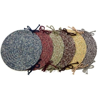 Rhody Rug Sandi Reversible Braided Chair Pads (Set of 4)