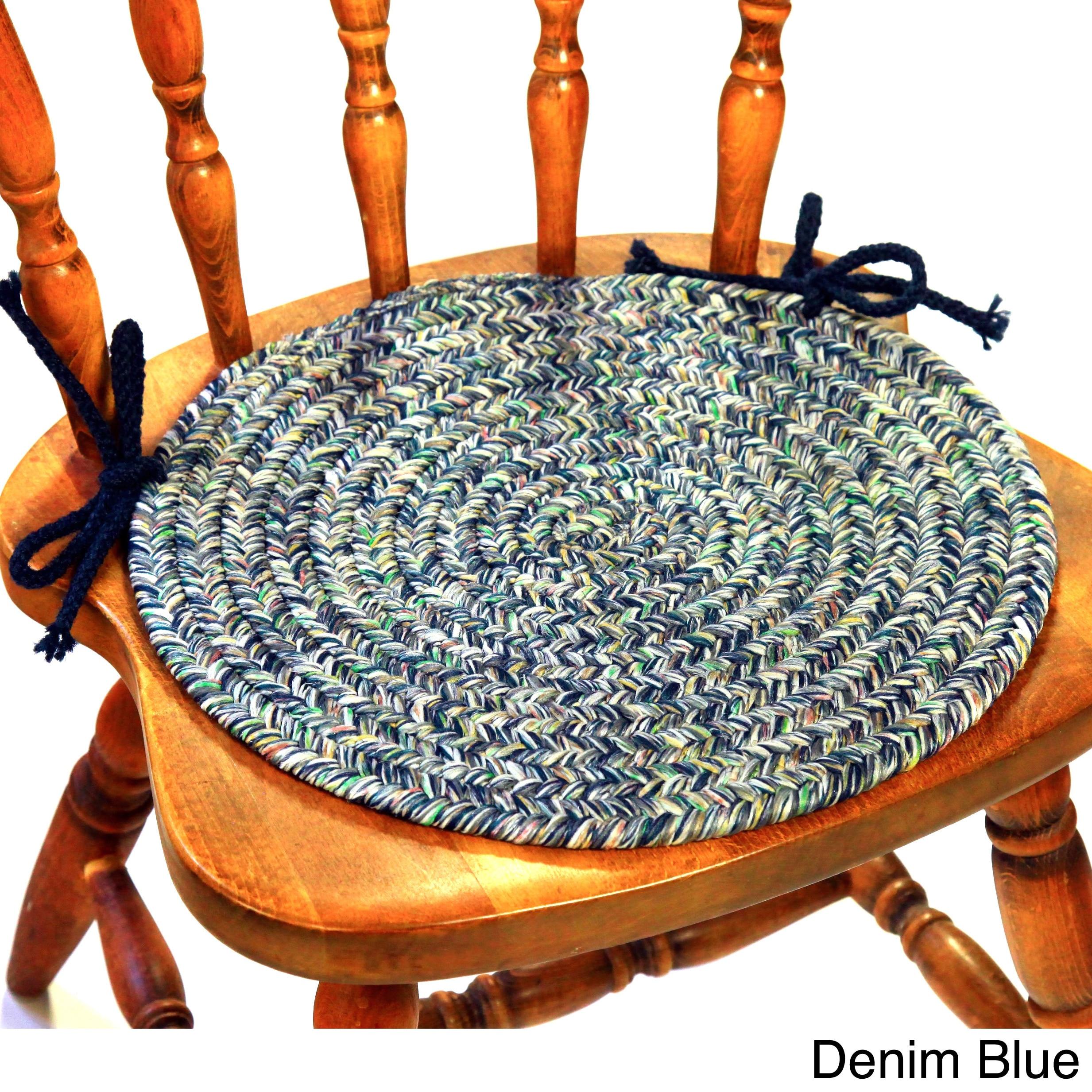 Braided Rug Pad: Rhody Rug Sandi Reversible Braided Chair Pads (Set Of 4
