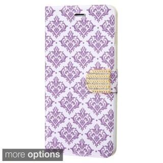 INSTEN Design Trendy Pattern Wallet Pouch with Diamante Belt For iPhone 6 Plus
