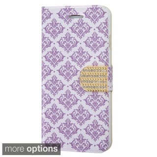 INSTEN Design Trendy Pattern Wallet Pouch with Diamante Belt for iPhone 6