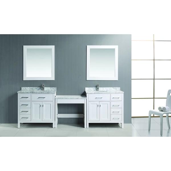 72 bathroom vanity cabinet only - Design Element 102 Inch Single Sink Vanity Set In White