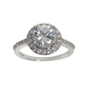 Eternally Haute 4ct TGW Round-cut Cubic Zirconia Halo Ring