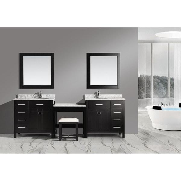Shop Design Element 102 Inch Espresso Marble Top Bathroom