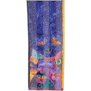 Laurel Burch Scarves-Cats W/Butterflies|https://ak1.ostkcdn.com/images/products/9563875/P16749568.jpg?impolicy=medium