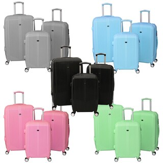 World Traveler Hard Candy 3-Piece Hardside Spinner Wheels Luggage Set (2 options available)