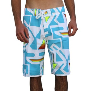 Azul Swimwear Men's 'Arrows' Turquoise Boardshorts