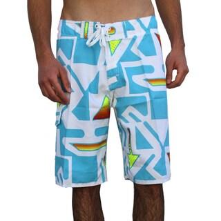 Azul Swimwear Men's 'Arrows' Turquoise Boardshorts