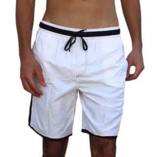 Azul Swimwear Men's 'Solid Scuba' White Swim Trunks|https://ak1.ostkcdn.com/images/products/9563914/P16750588.jpg?impolicy=medium