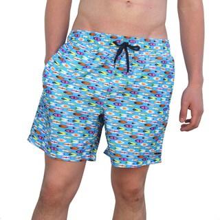 Azul Swimwear Men's 'Surfboards' Blue Swim Trunks (3 options available)