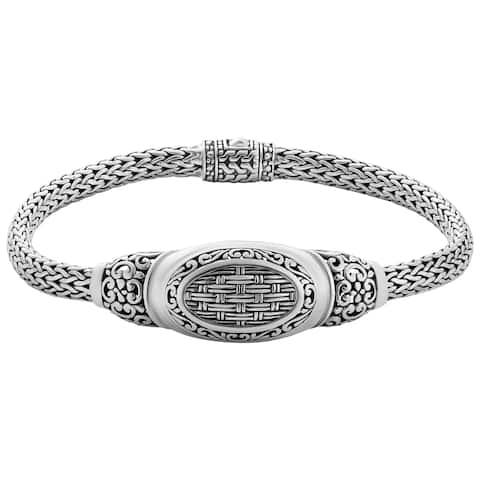 "Handmade Sterling Silver Bali Bracelet - 7.5"" (Indonesia)"
