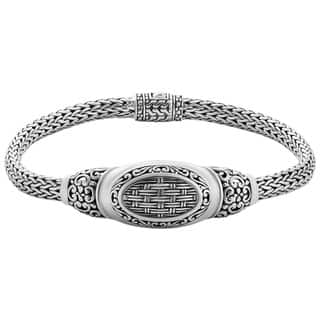 Sterling Silver 'Balinese Breeze' 7.5 inch Cawi Bracelet (Indonesia) https://ak1.ostkcdn.com/images/products/9563938/P16750081.jpg?impolicy=medium