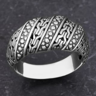 Sterling Silver 'Glorious Path' Cawi Ring (Indonesia)