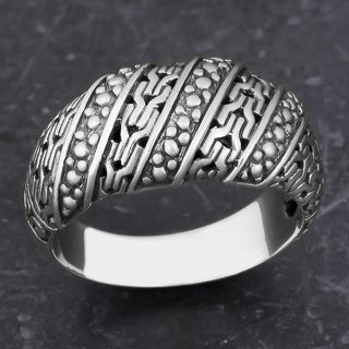 Handmade Sterling Silver Glorious Path Cawi Ring (Indonesia)