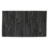 Wood Grain Large Scale Black Rug (4' x 6') - multi - 4' x 6'