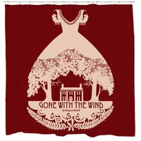 Gone With The Wind Cranberry Shower Curtain