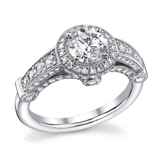 14k White Gold 1 2/5ct TDW Diamond Vintage Engagement Ring