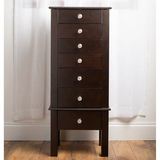 Hives & Honey Hannah Espresso Crystal Jewelry Armoire
