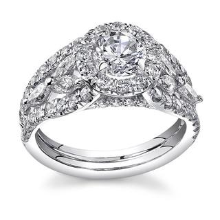 18k White Gold 2 1/5ct TDW Certified Diamond Ring