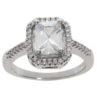 Eternally Haute 3.25ct TW Emerald Cut Halo Ring