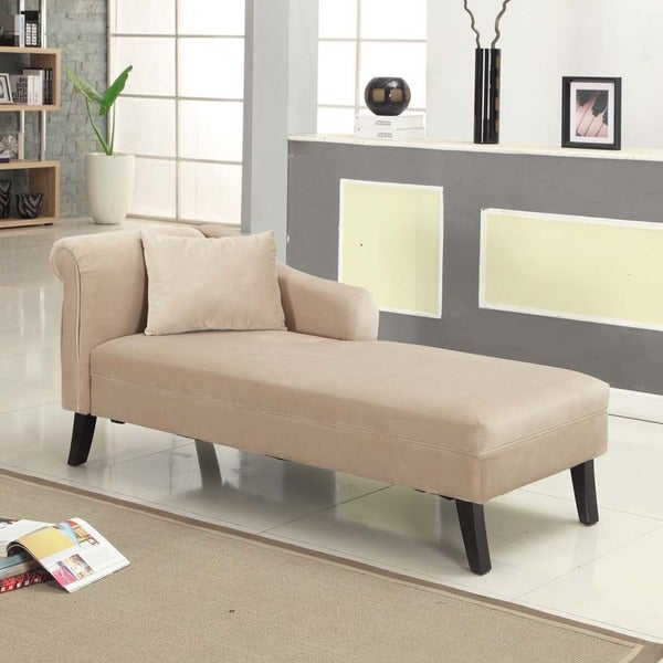 patterson taupe chenille chaise free shipping today. Black Bedroom Furniture Sets. Home Design Ideas