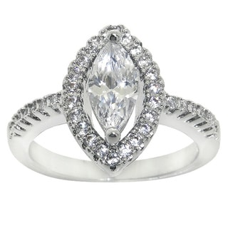 Eternally Haute 2 1/ 2ct TGW Marquise-cut Cubic Zirconia Ring