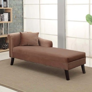 Armen Living Patterson Brown Chenille Chaise