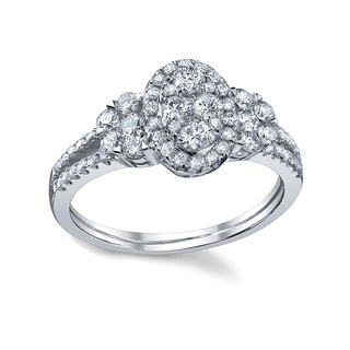 18k White Gold 7/8ct TDW Diamond Engagement Ring