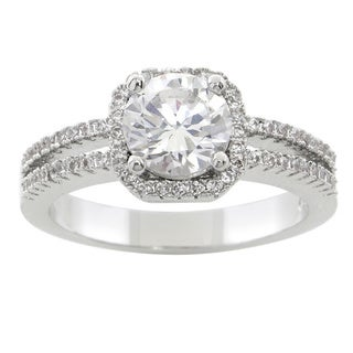 Eternally Haute 3ct TGW Cubic Zirconia Halo Ring