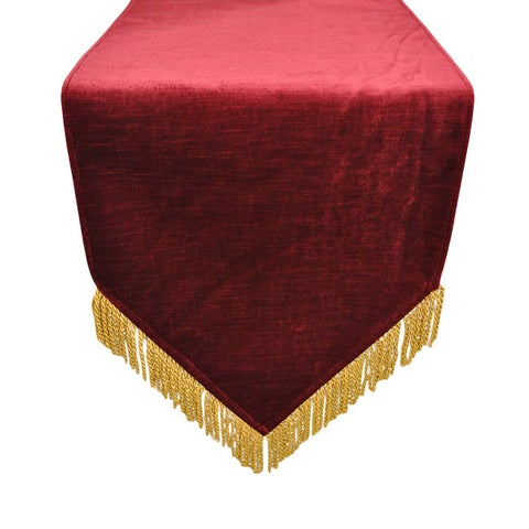Austin Horn Classics Hamburg Velvet Red Gold Bullion Luxury Table Runner