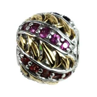 Michael Valitutti Palladium Silver Multi Sapphire Kaleidoscope Charm