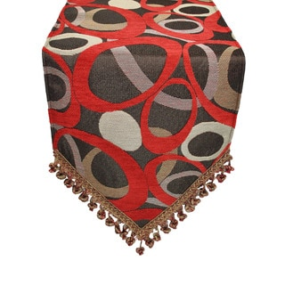 Sherry Kline Oh Red Luxury Table Runner