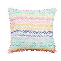 Multi-Color Broken Chevron Decorative 20-inch Throw Pillow