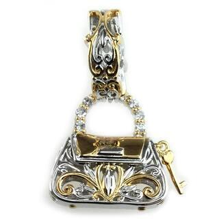 Michael Valitutti Palladium Silver Handbag Charm https://ak1.ostkcdn.com/images/products/9564155/P16750255.jpg?impolicy=medium
