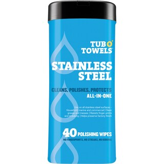 """Tub O' Towels 7""""X8"""" 40/Pkg-Heavy Duty Stainless Steel Wipes"""