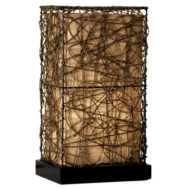 StyleCraft Natural Rattan Accent Lamp