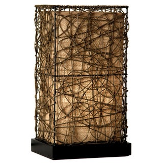 Natural Rattan Accent Lamp