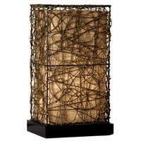 StyleCraft Natural Rattan Accent Lamp