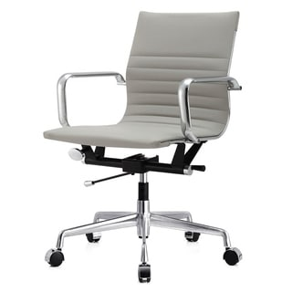 M348 Grey Vegan Leather Office Chair