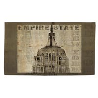 Vintage Ny Empire State Rug - 4' x 6'