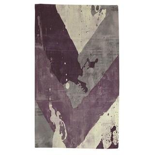 Splatter No I Purple Rug (4' x 6') - 4' x 6'
