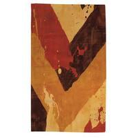 Splatter No I Red Rug (4' x 6')