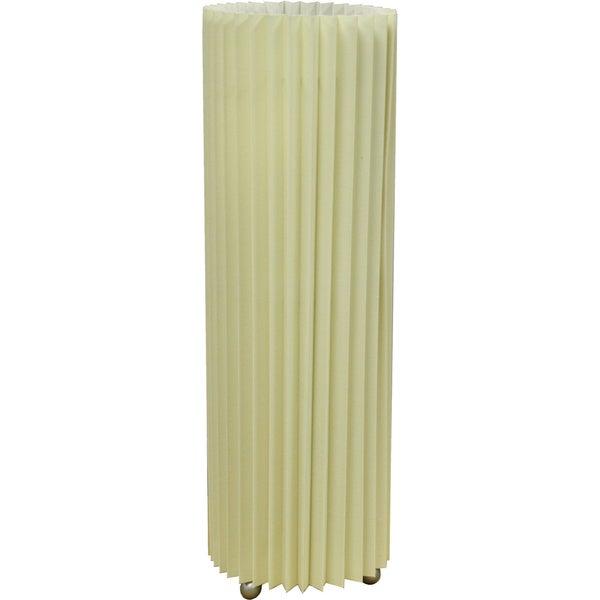 16.5-inch High Ivory Tartan Folded Table Lamp