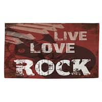 Live Love Rock Rug (4' x 6') - multi - 4' x 6'