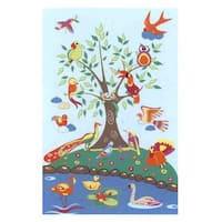 Birds of Paradise Blue Accent Rug