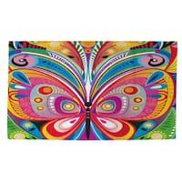 Pattern Butterfly Rug (4' x 6') - Multi - 4' x 6'